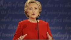 When Trump attacked free trade in tonight's debate, Clinton responded by running away from the trade issue. (AP Photo/Julio Cortez)