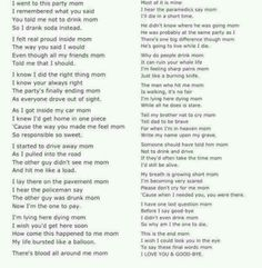 Mom I Did Not Drink And Drive Poem