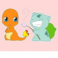 Taking advantage! #pokemon #cute #anime #adorable #bulbasour #charmander #starters - @pokecute- #webstagram