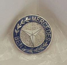 MERCEDES BENZ GERMAN CAR AUTOMOBILE BLUE LAPEL PIN BADGE 3/4 INCH  in Vehicle Parts & Accessories, Automobilia, Lapel Pins | eBay