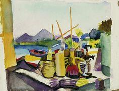 August Macke: Landschaft bei Hammamet. 1914