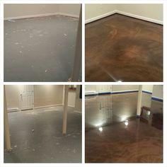 Designer epoxy, Allure Flooring, basement in Basking Ridge NJ.