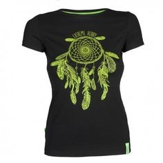 T-shirt women DREAMCATCHER. Color: black. T-shirt for women with short sleeves Extreme Hobby line Basic, characterized by high quality material. Imprints are enhanced effects HD and gel. Cut t-shirt was created by us from scratch for a sense of comfort and originality.
