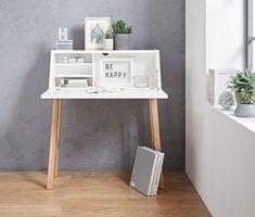 199,00 € Nadčasový a jednoduchý dizajn a všestranné použitie: Tento sekretár s priehradkou na odkladanie časopisov Vás nadchne svojou jasnou štruktúrou ako pracovná plocha a písací stôl s veľkým úložným priestorom, uzavretý sa môže použiť ako sekretár na čítanie –
