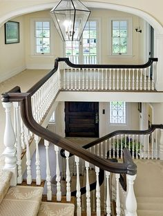 As the home of acclaimed best-selling author Peter Benchley, this Western Section beauty with splendor to spare was a gathering place for writers, artists, and politicians. Princeton Architecture, Building Code, Railing Design, Grand Staircase, Entry Foyer, Stairways, Future House, Peter Benchley, Beautiful Homes