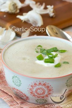 An Easy Garlic Soup Recipe that only takes 15 Minutes to make.