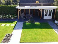 Backyard Sheds, Backyard Patio, Backyard Landscaping, Pergola, Small Garden Design, Patio Design, Back Gardens, Outdoor Gardens, Outdoor Pavillion
