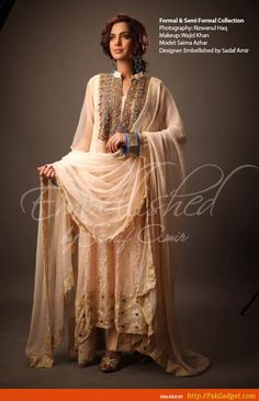 embellished by sadaf amir latest formal wear dresses 2013 for ladies Dresses 2013, Formal Dresses, Semi Formal Wear, Indian Couture, Sharara, Anarkali, Latest Dress, Couture Fashion, Party Wear