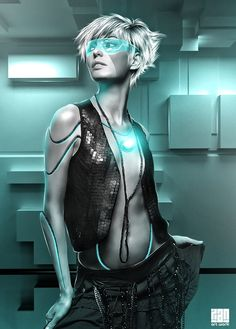 Cyberpunk, Futuristic, Future Girl, Beautiful Robot by ~Xan-04 Digital Art / Photomanipulation / Sci-Fi