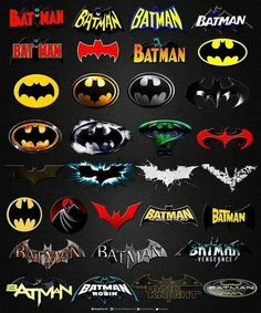 Batman Logos from DC Comics Batman Robin, Im Batman, Superman, Batman Stuff, Batman Sign, Batman Poster, Batman 1966, Gotham Batman, Lego Batman