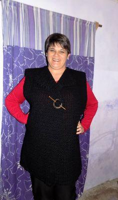 Chaleco en crochet,lana