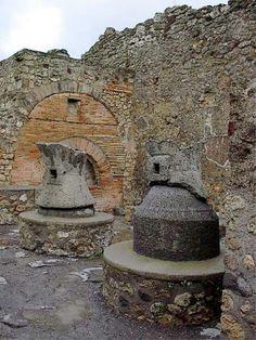 Bread ovens in Pompeii