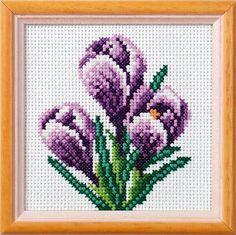 crocus cross stitch için resim sonucu