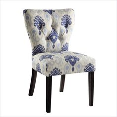 Lowest price online on all Avenue Six Andrew Dining Chair in Medallion Ikat Blue - AND-M13