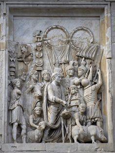 Marcus Aurelius panel relief 176-180AD, Lustratio, renselse i start mili kampagne