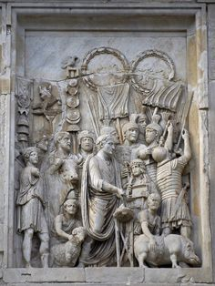Marcus Aurelius panel relief 176-180AD, Lustratio, renselse i start mili kampagne