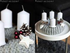 Knitting an advent wreath Advent Wreath, Portfolio, Wreaths, Table Decorations, Knitting, Home Decor, Crown Cake, Weihnachten, Breien