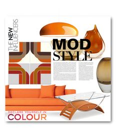 """""""MOD Style"""" by ellenawaters ❤ liked on Polyvore featuring interior, interiors, interior design, home, home decor, interior decorating, Blu Dot, Amara, NOVICA and FontanaArte"""