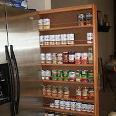 Make a Pantry between the fridge and wall