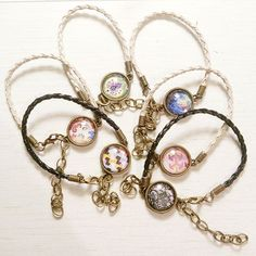 Leather cord bracelets ♡ #vintagestyle #patterns #jewelry #jewellery #vintageinspired #vintagevibes #fashion #retro #cameo #colourpop #stylish #handmadejewelry #handmade #bracelet #craftshow #craft #cagliari #vintage