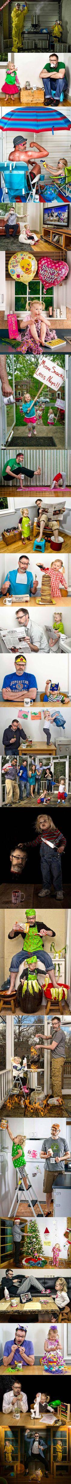 Voici la seconde série de photos de Dave Engledow sur le thème World's Best Father où il réalise des mises en scène avec sa fille complétement déjantées s'inspirant par exemple…
