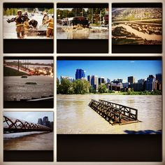My city #yyc #yycflood2013 #prayforcalgary Calgary, This Is Us, Beautiful Places, Bicycle, Events, City, People, Summer, Bicycle Kick