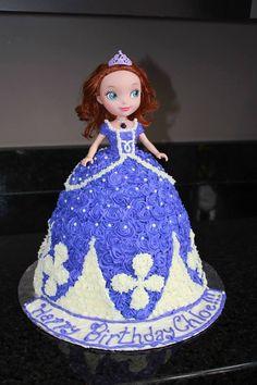 Sophia the First cake 3rd birthday doll cake