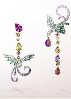 VCA Oiseaux de Paradis earrings, 2009, Oiseaux de Paradis collection