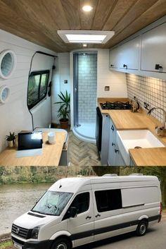 Van Conversion Interior, Camper Van Conversion Diy, Van Interior, Van Conversion Bed Lift, Motorhome Interior, Room Interior, Interior Design, Van Living, Tiny House Living