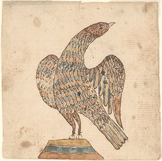 Item No: frk00572    Title:  Drawing (Eagle)    Category:  Drawing    Creators:   Decorator: Anonymous    Creation Place:   State/Province: [Pennsylvania]   Note: Based on design characteristics    Creation Date: ca. 1810