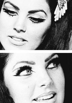 Novocaine Lipstick, ladypresley: Priscilla Presley's eyes in the 60s...                                                                                                                                                                                 More