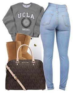 Fall Stuff 10.16.15 by thebaddestbaddie on Polyvore featuring polyvore, fashion, style, UGG Australia and Michael Kors