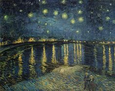 Vincent van Gogh. Starry Night of the Rhone, 1888. Oil on canvas, 72.5 x 92 cm. Painted in September 1888 when the Big Dipper was bright in the sky. Image source: Bridgeman Art Library Location: Musée d'Orsay (website) © Bridgeman Art Library / Musee d'Orsay, Paris, France / Giraudon