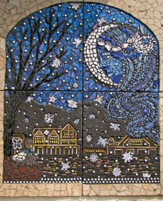 Mosaic mural by self-taught mosaicist Trish Metzner-Lynch for a community arts center in the Tacony neighborhood of Philadelphia