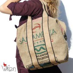 Tote bag by Wren - brazilian coffee sacks.