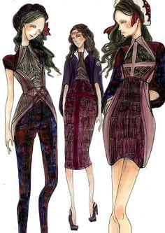 Notre Dame de Paris - Middle Age by INKNIGELLA. fashion design, sketches