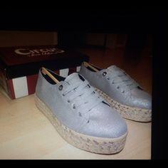 New Sam Edelman espadrilles shoes New Sam Edelman Espadrille shoes.                 Color :|Soft silver.                                                              Comes with the shoe box Sam Edelman Shoes
