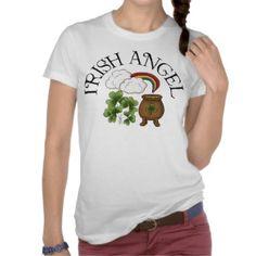 Irish Angel Shamrocks Pot Of Gold T-shirts     $25.35
