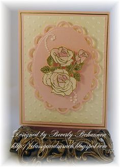 rose card using a sticker