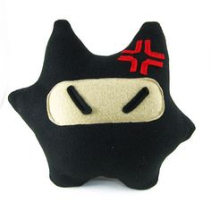 Ninja Mau Plush Pillow  Ninja Cat Pillow  PLUP001  by maustudio, $22.00