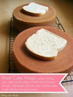 How to get your cakes completely moist and soft on the inside! Never have a dry cake again, my friends with this tip.