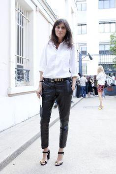 white shirt chic. Emmanuelle in Paris. #EmmanuelleAlt