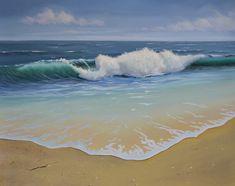 Final Details Ocean Wave Seascape Oil Painting - P.J. Cook Artist