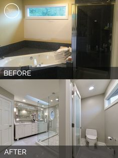 Richards Master Bathroom Remodel Pictures Gray Subway Tiles - Bathroom remodel lafayette indiana