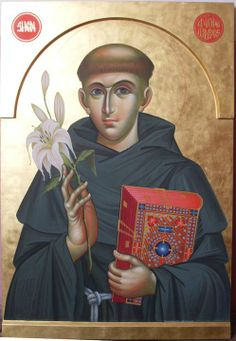 Anthony of Padua Religious Images, Religious Icons, Religious Art, Saint Anthony Of Padua, St Anthony's, Catholic Religion, Les Religions, Byzantine Icons, St Francis