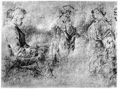 Goya y Lucientes, Francisco de: Tres figuras