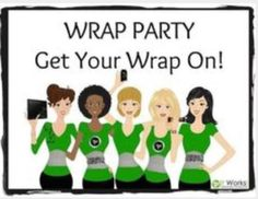 Invite your friends and have a virtual wrap party!