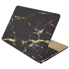 Marble Case for MACBOOK AIR & MACBOOK PRO (Black & Gold Marble)