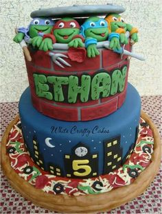 TMNT cake - Details are Awesome!