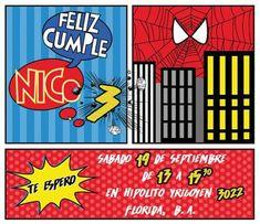 invitaciones del hombre araña gratis